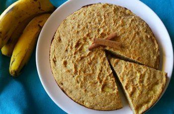 bolo de banana (banana bread) - sem açúcar