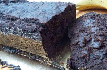 Bolo de banana e chocolate (chocolate banana bread) - vegan - sem açúcar