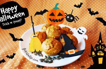 Muffins de abóbora para o Halloween – veganos